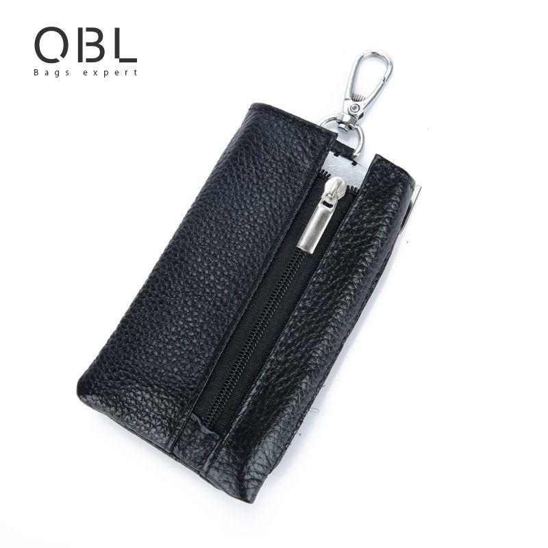 QiBoLu Organizador Titular de La Cartera Clave Bolsa Llavero Llaveros Hombre Porte Cle Sleutelhanger Porta Llaves Sleutel Tasje Leder