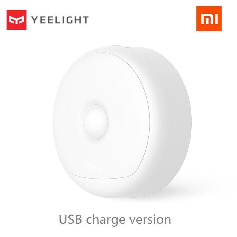 (Charge USB) Xiaomi Mijia Yeelight LED veilleuse infrarouge magnétique avec crochets capteur de mouvement à distance du corps pour Xiaomi Smart Home