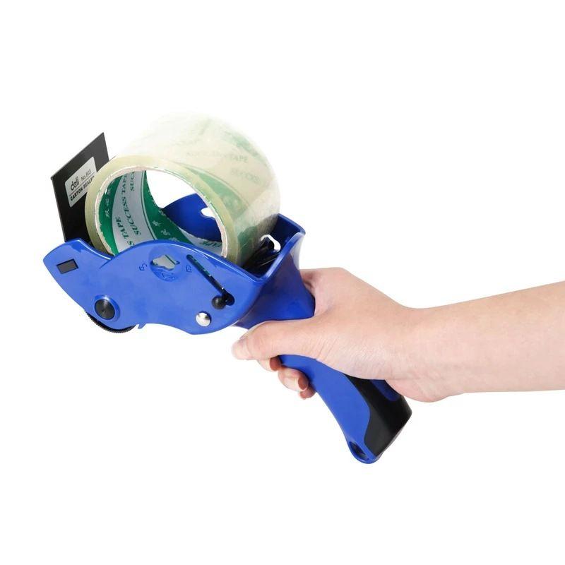 1 pc Bande D'étanchéité Packer dévidoir de ruban adhésif Capable 6 cm Largeur En Plastique bande scellante Titulaire Cutter Manuel Machine D'emballage Outils