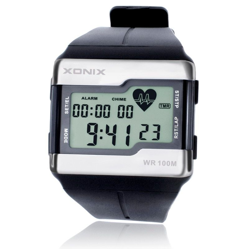 Hot!!! TOP Fashion Heart Rate Monitor Men Sports Watches Waterproof 100m Digital Watch Swimming Diving Wristwatch Montre Homme