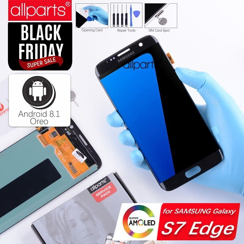 Original Amoled G935F S7 edge LCD Display Screen for SAMSUNG Galaxy S7 edge Display Touch Screen Replacement Gold Blue Black