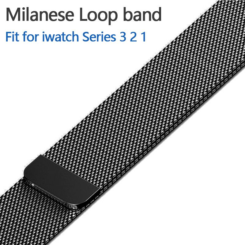 Magnetic adjustable buckle Milanese Loop Band for Apple watch 42mm 38mm Link Bracelet Strap with adapter for iwatch Series 3 / 2