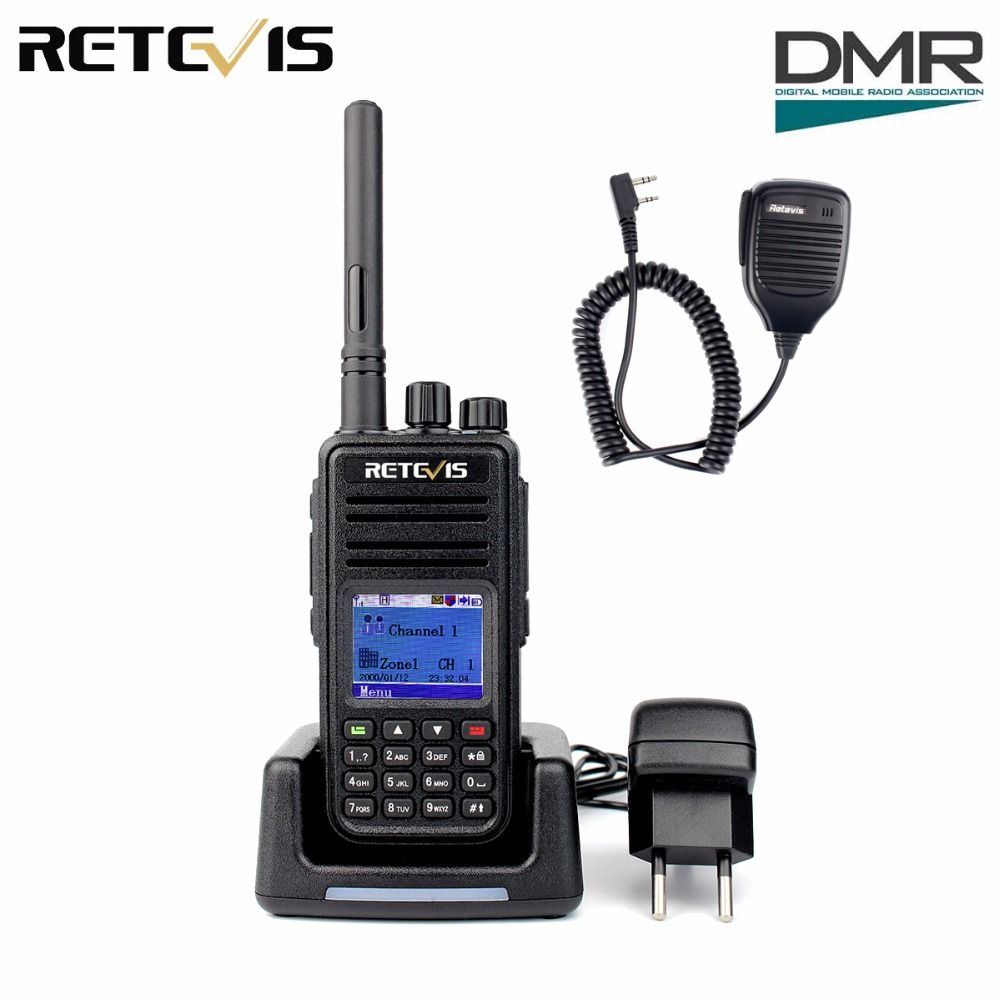 DMR Radio Retevis RT3 Digital Walkie Talkie UHF 400-480MHz 5W 1000 Channel Ham Radio Hf Transceiver Wholesale A9110A