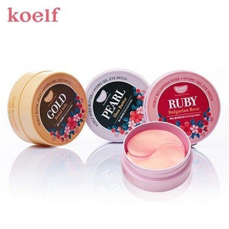 KOELF Gold Royal Jelly Hydro Gel+Ruby Bulgarian Rose +Pearl Shea Butter Eye Patch Eye Mask Korean Cosmetics
