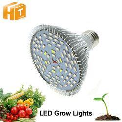Espectro completo llevado crece la luz 10 W/30 W/50 W/80 W rojo azul UV IR llevó la lámpara creciente para la hidroponía FLORES PLANTAS verduras