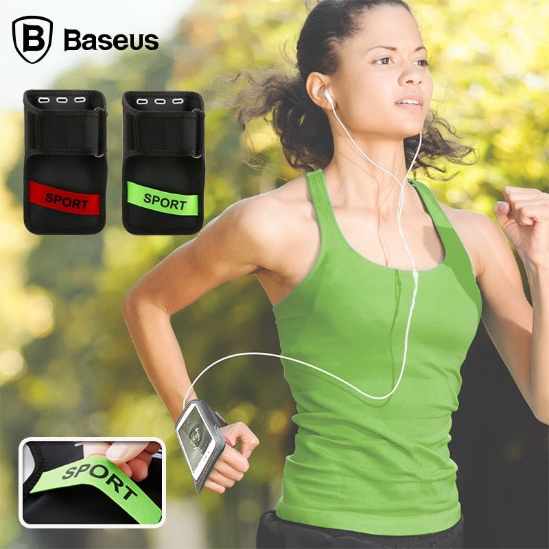Baseus Sport Arm Band Case For iPhone 6 6S Gym Waterproof Pouch For Samsung Galaxy S8 Xiaomi Mi6 PU Leather Phone Cover Armband