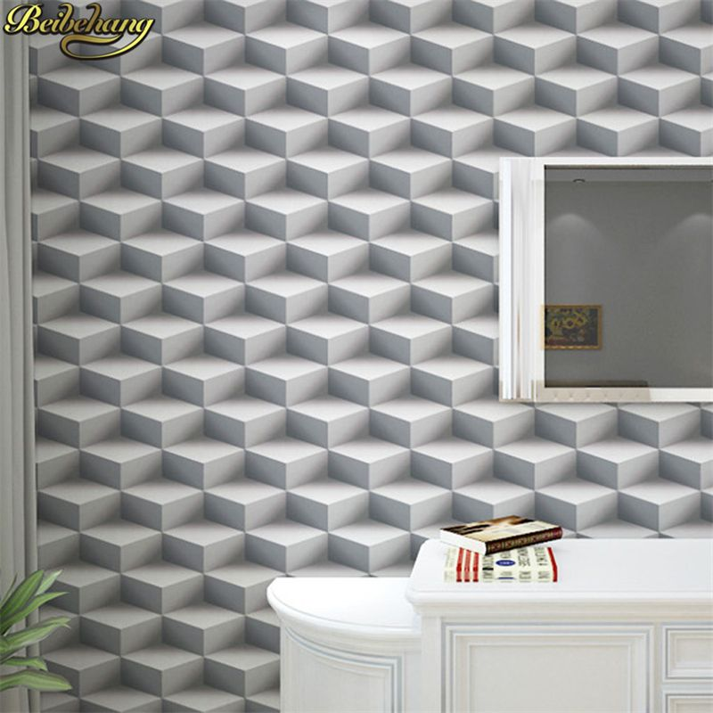 beibehang papel de parede 3d Geometric triangle wallpaper for walls 3 d wall papers home decor 3D Modern living room decoration