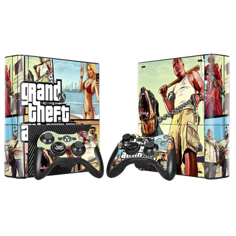 Grand Theft Auto 5 GTA 5 Vinylhaut-aufkleber Für Microsoft Xbox 360 E Slim Konsole Controller Controle Für x box 360 SCHLANKE E aufkleber