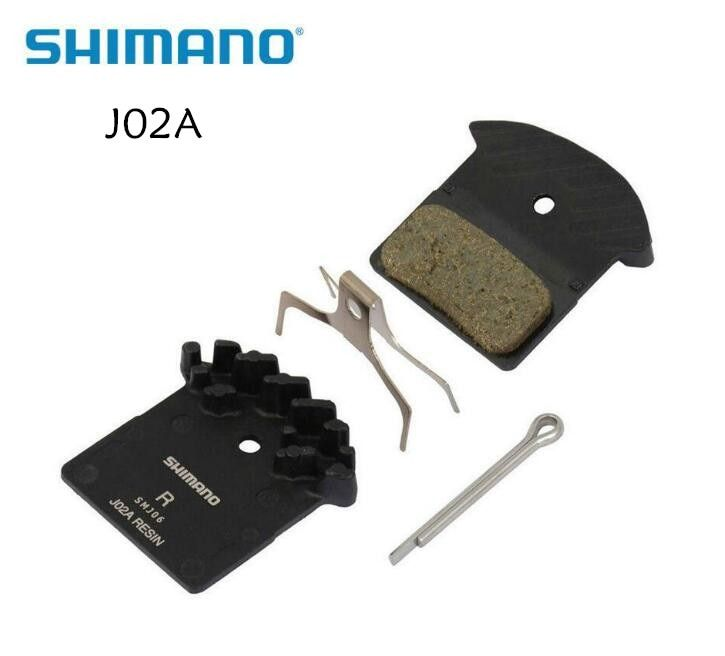 Shimano J02A Resin Cooling Fin Disc Brake Pads for SLX M666, M675, Deore XT M785, XTR M985, M988 & Alfine BR-S700, M8000 & M9000