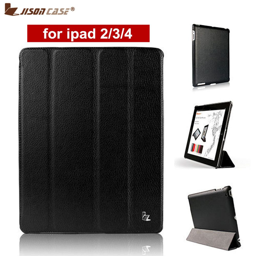 Jisoncase Brand Case For <font><b>iPad</b></font> 2 3 4 Leather Case PU Protective Smart Cover Case for <font><b>iPad</b></font> 2 3 4 New Free Shipping Covers & Cases