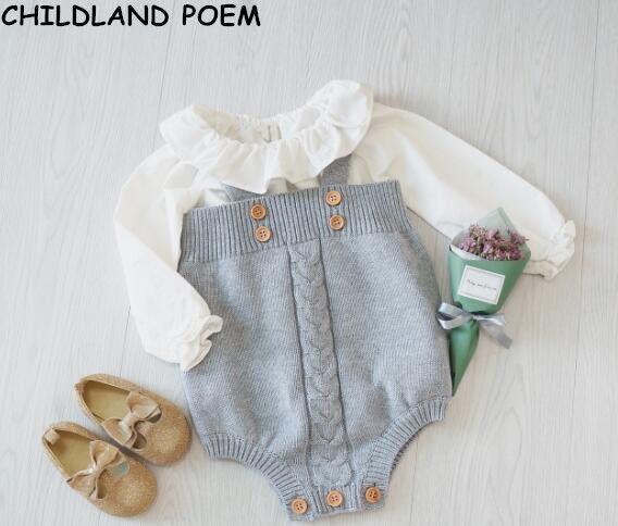 Bébé filles combinaison vêtements bambin nouveau-né bébé barboteuses tricoté bébé salopette bébé barboteuses princesse enfants vêtements barboteuses