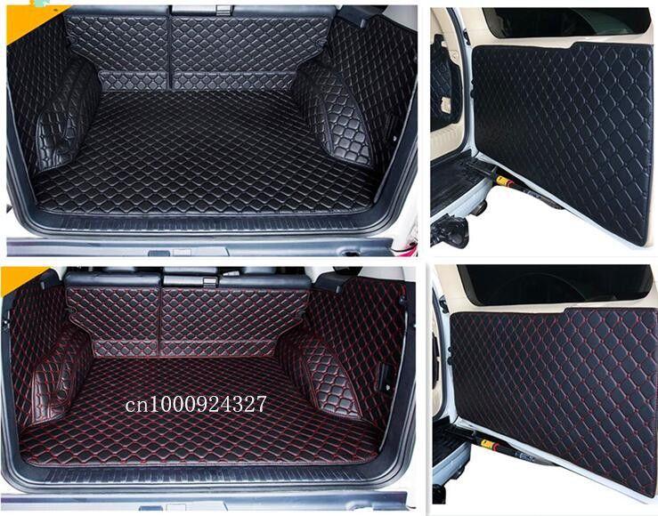 Newly! Full set trunk cargo mats & Rear door mat for Toyota Land Cruiser Prado 150 5 seats 2017-2010 boot carpets,Free shipping