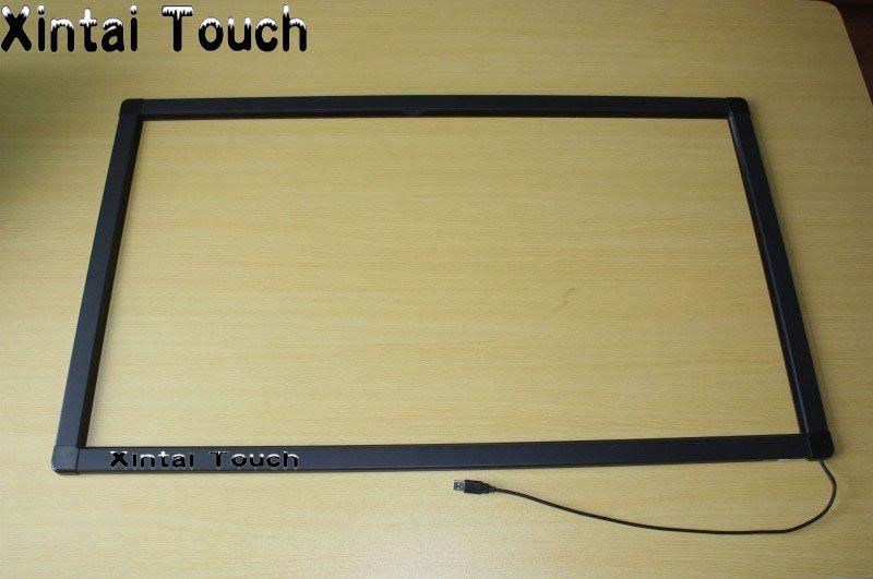 Freies Verschiffen! 65 Zoll IR Multi-touchscreen Rahmen 10 punkte IR Touch Panel Overlay kit ohne glas