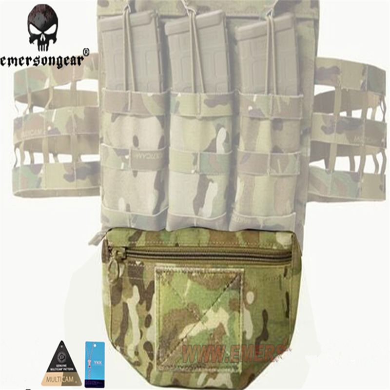 EMERSONGEAR Genuine Multicam Tropic Arid Black Armor Carrier mounted Drop Molle Tactical Pouch For AVS JPC CPC EM9283