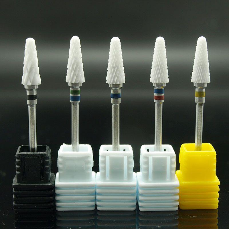EasyNail 1pcs Mill Ceramic Nail Drill Bits For Electric Manicure Machines Pedicure Nail Art Salon Polish Tools M0610