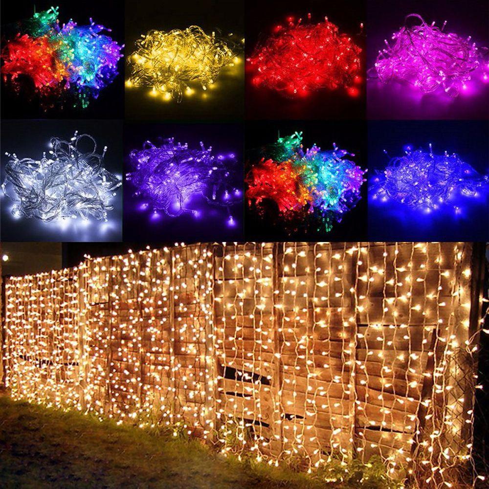 2x3 M Navidad Guirnaldas LED Luces Netas de Hadas de la Secuencia de la Navidad de Navidad Fiesta de Jardín Decoración de La Boda Luces de la Cortina