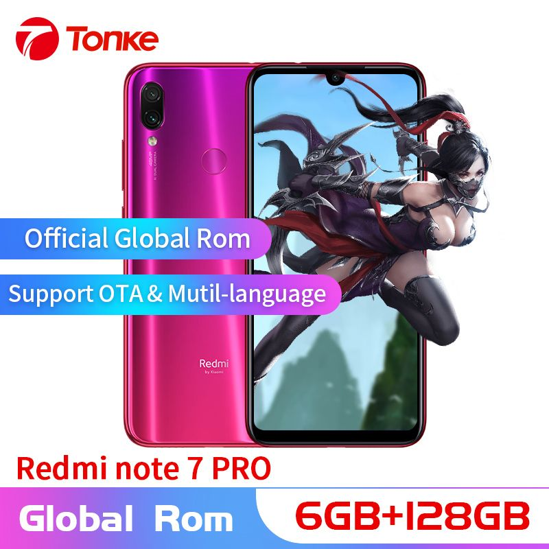 Globale OTA Rom Xiaomi Redmi Hinweis 7 Pro handy 6GB RAM 128GB ROM Snapdragon 675 Octa Core Volle bildschirm 48MP Dual Kamera