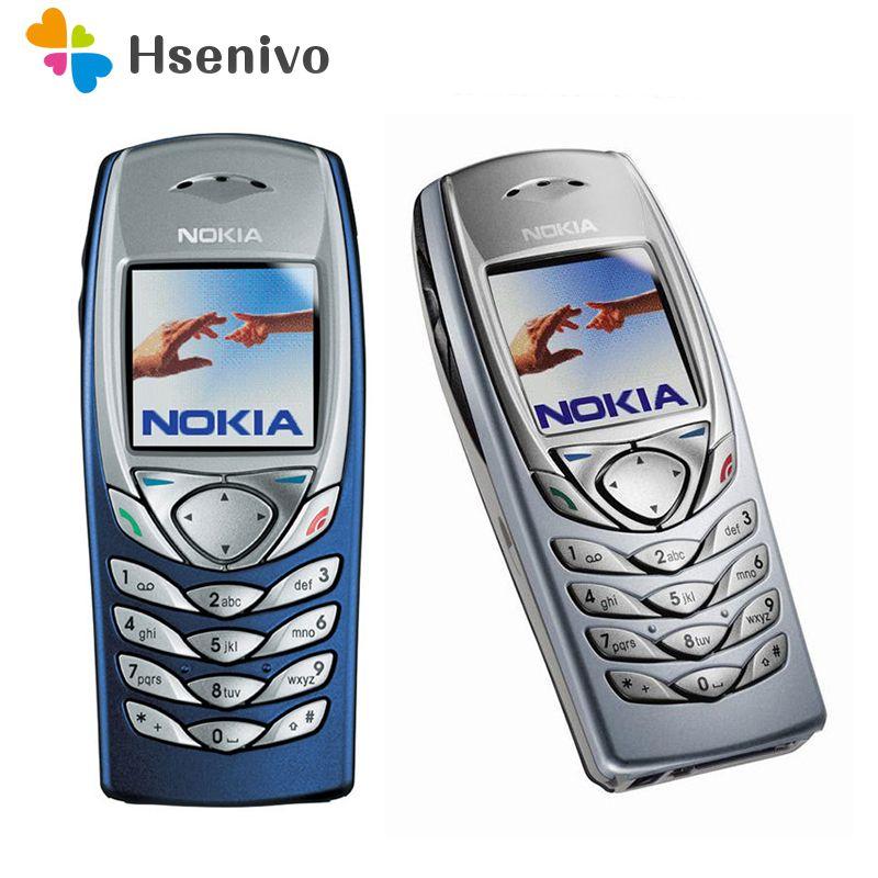 D'origine NOKIA 6100 Téléphone Portable Mobile Débloqué GSM Tri-Bande Rénové 6100 Téléphone Portable Pas Cher Téléphone remis à neuf