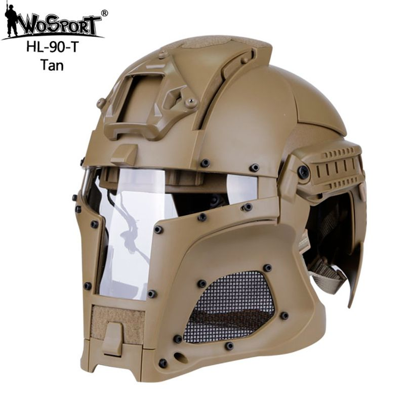 54-64CM Outdoor Sports Army Combat Airsoft Paintball Airsoft Tactical Helmet Full-covered Hunting Shooting Outdoor Sports Helmet