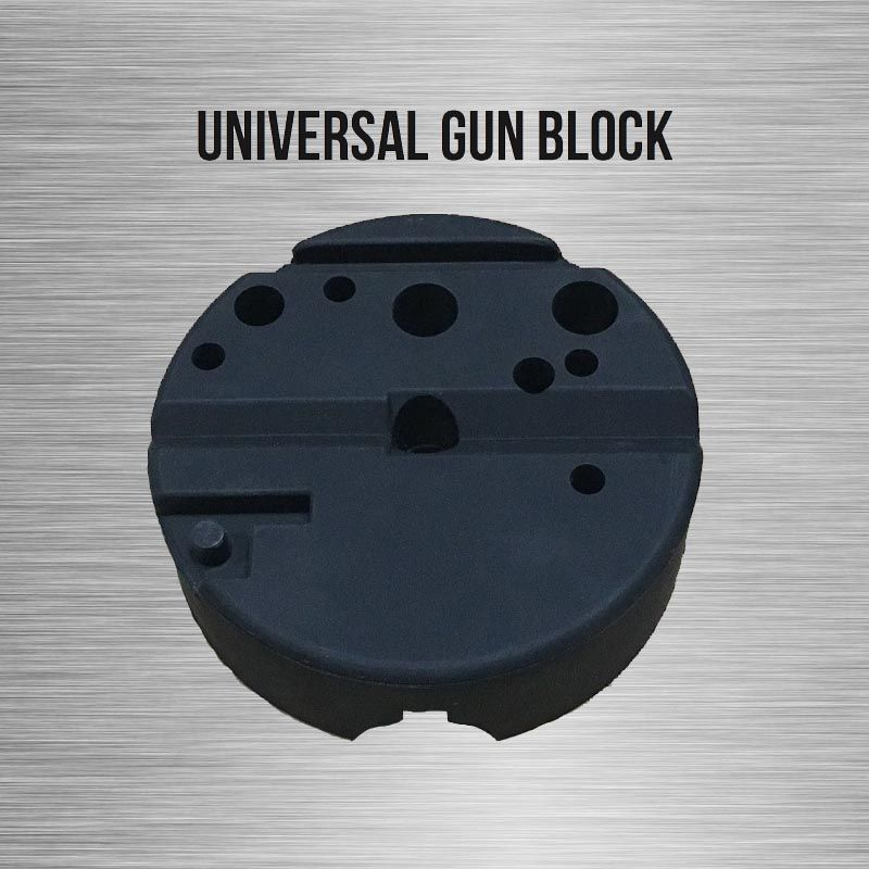 Universal Gunsmithing Bench Block Handgun Pistol M1911 Ruger 10/22s Style Reassemble Firearm Assembly Bench Block