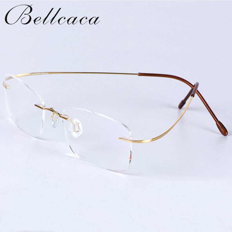 Presbyopia Eyeglasses Women Men Unisex Rimless Memory Titanium Flexible Reading Glasses+1.0 +1.5 +2.0 +2.5 +3.0 +3.5 +4.0 BC133