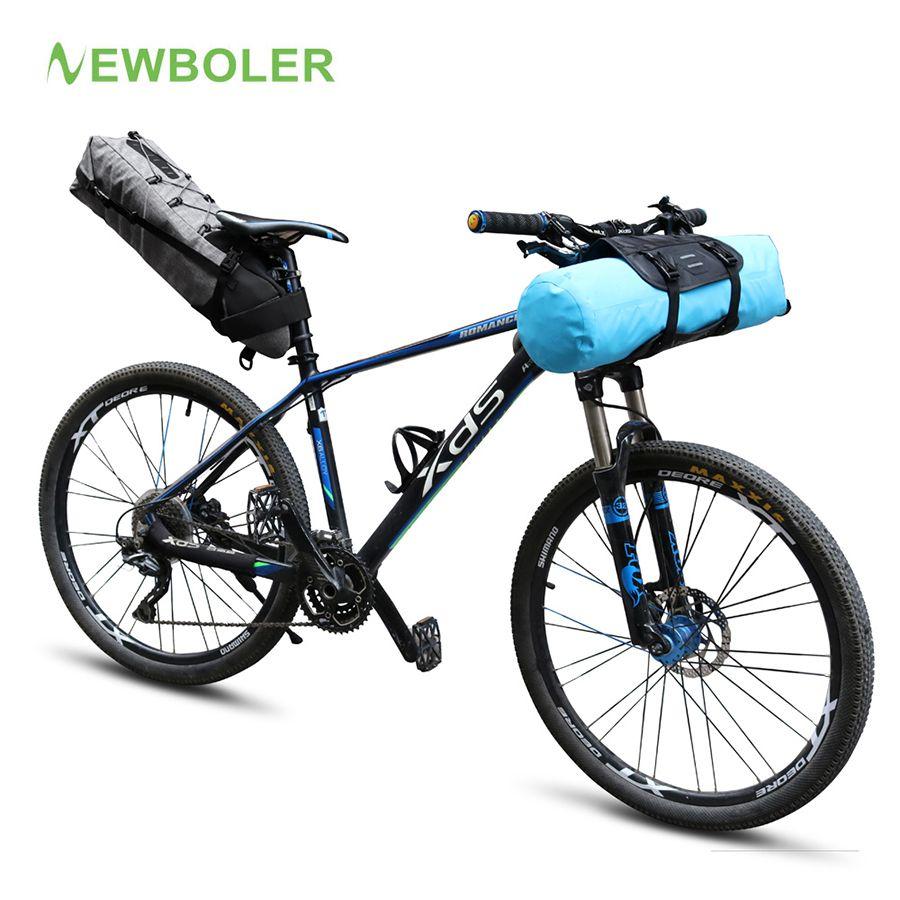 NEWBOLER Wasserdichte Fahrrad Satteltasche Große Fahrrad Schwanz Sitz Taschen TPU und Fahrrad Lenkertasche