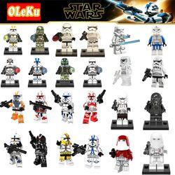Untuk Legoing Star Wars Terakhir Jedi Imperial Militer Tentara Clone Trooper Stormtrooper Blok Bangunan Starwars Mainan Hot Sale Angka