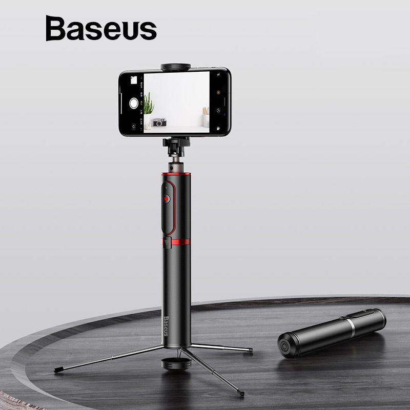 Trépied portatif d'appareil-photo de téléphone intelligent tenu dans la main de bâton de Selfie de Bluetooth de Baseus avec la télécommande sans fil pour l'iphone Samsung Huawei Android