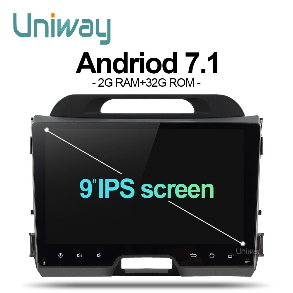 uniway AZP9071 android 7.1 car dvd for kia sportage 2014 2011 2009 2010 2013 2015 car radio stereo multimedia player