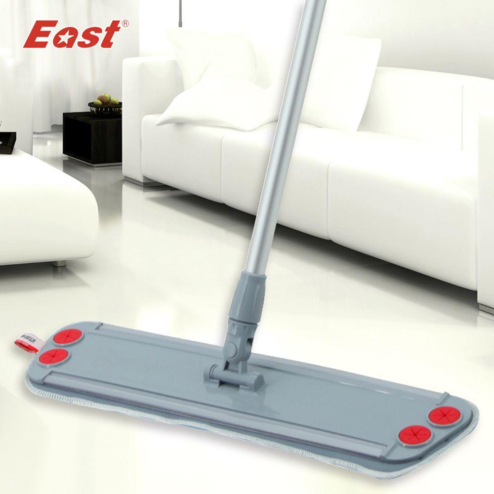 -Orient accueil étage cuisine salon de nettoyage outils Télescopique avec microfibre tissu peut clip serviette Plat Vadrouille