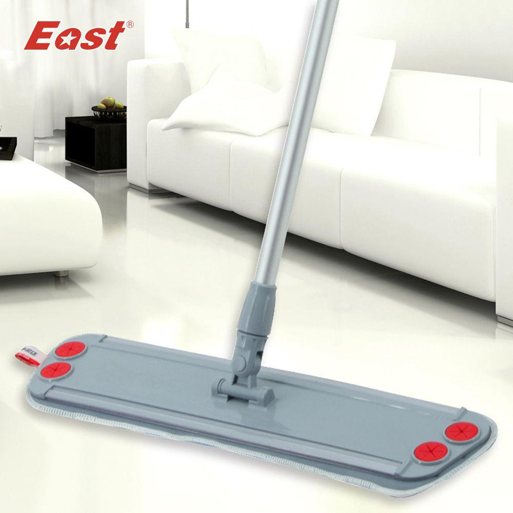 East home floor kitchen living room cleaning tools Telescopic with microfiber cloth can clip towel Flat Dust Mop