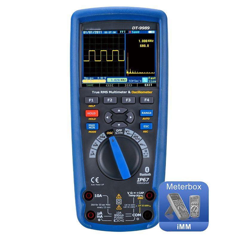 digital multimeter oscilloscope LCD Color screen usb DT-9989 Professional current voltage test electrician tools