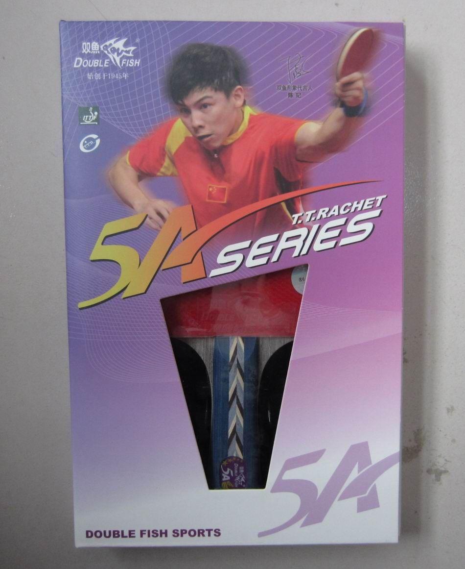 Originale fini raquettes double poissons 5 étoiles 5ae 5ac raquettes de tennis de table raquette sport rapide attaque avec boucle boutons en pur