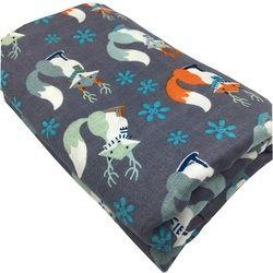 120X120 Cm Serat Bambu 100% Muslin Selimut Fox Binatang Bayi Lembut Selimut Blanket Membedung Wrap untuk Newborn Swaddling handuk Mandi
