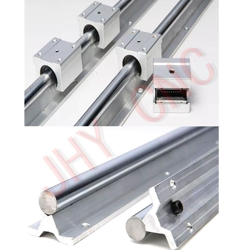 6 sets linear rail SBR20 L300/1000/1500mm+3pcs Ball screw RM1605 -L 350/1050/1500mm +3pcs RM1605 Ballscrew Ballnut for CNC