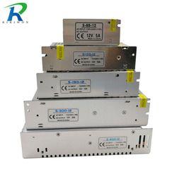 Riri Akan Catu Daya DC 12 V Lampu Transformator Driver Switch untuk LED Strip Adaptor AC 220 V 2A 3A 6.5A 10A 15A 25A 30A 33A