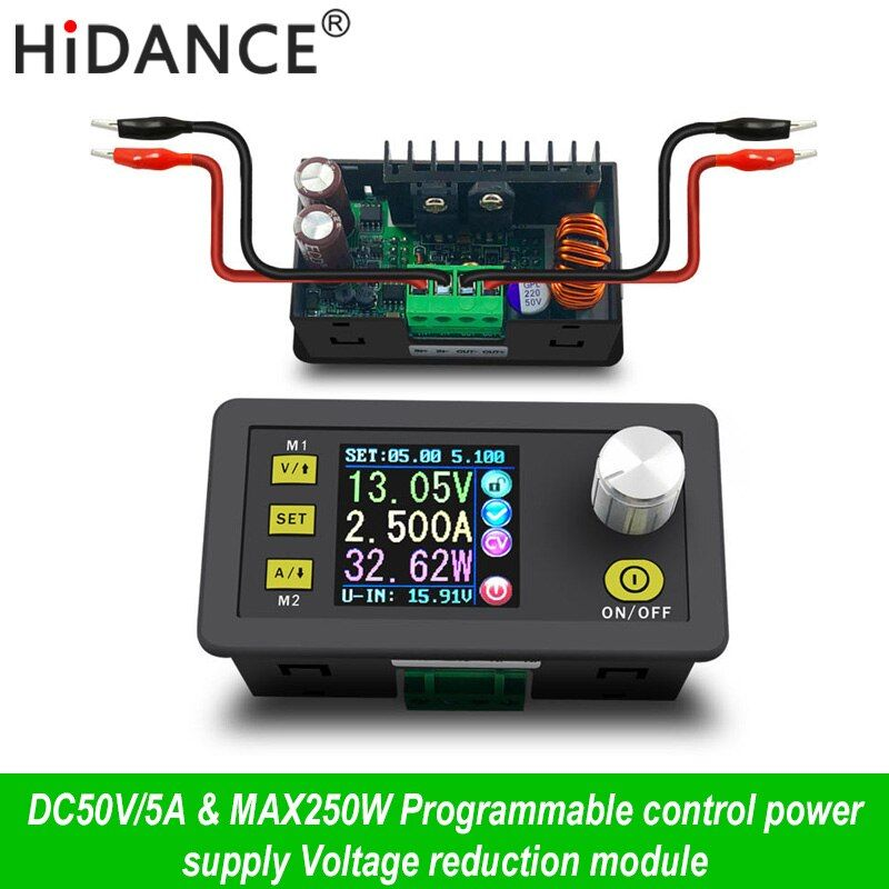 Commande numérique alimentation 50 V 5A Tension Constante Réglable courant Constant testeur DC voltmètre Régulateurs Ampèremètre