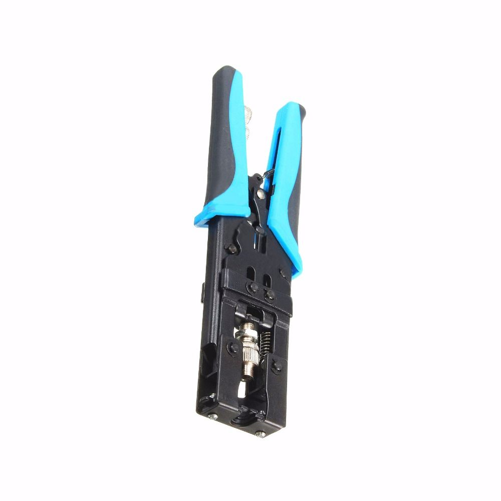 1pc High Strength Coax Compression Crimper Tool BNC/RCA/F Connector RG59/58/6 Coaxial Cable Wire Crimping Pliers 225mm Mayitr