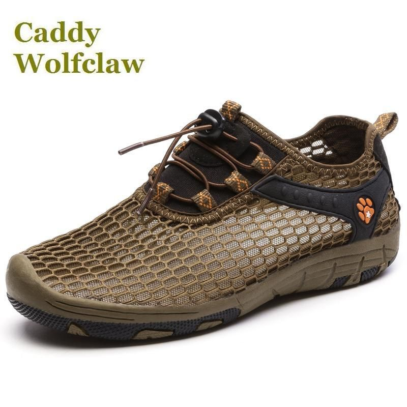 lightweight and breathable summer hiking shoes 2017 couples sneakers mesh outdoor aqua shoes woman men trekking non-slip