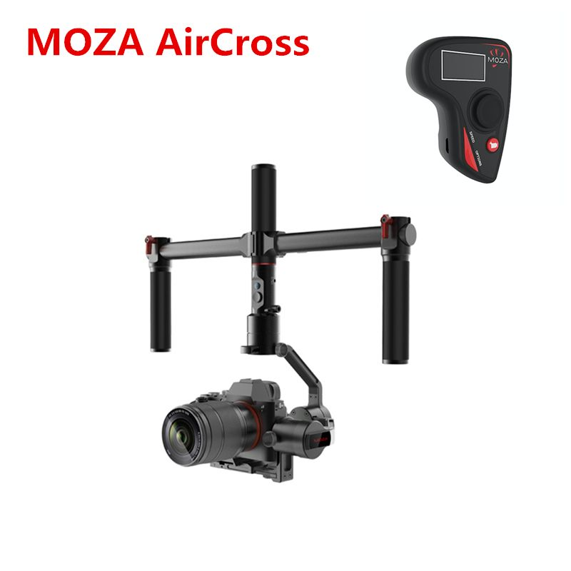 MOZA AirCross 3 Axis Stabilizer Handheld Gimbal Dual Handle Wireless remote for Mirrorless 1.8KG SONY A7 GH5 Long Exposure