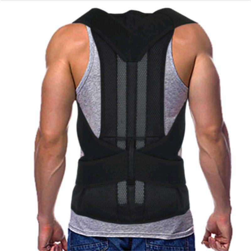 HEALTH CARE Lumbar Support Belt Strap Posture Corset for Men Men's Back Posture Corrector Back Braces Belts AFT-B003