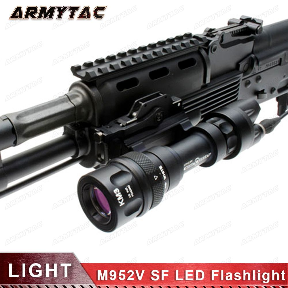 Tactical light M952V QD Quick Release Tactical Rifle LED Flashlight Mount Weapon Lights with 400 Lumens for Hunting Accessories