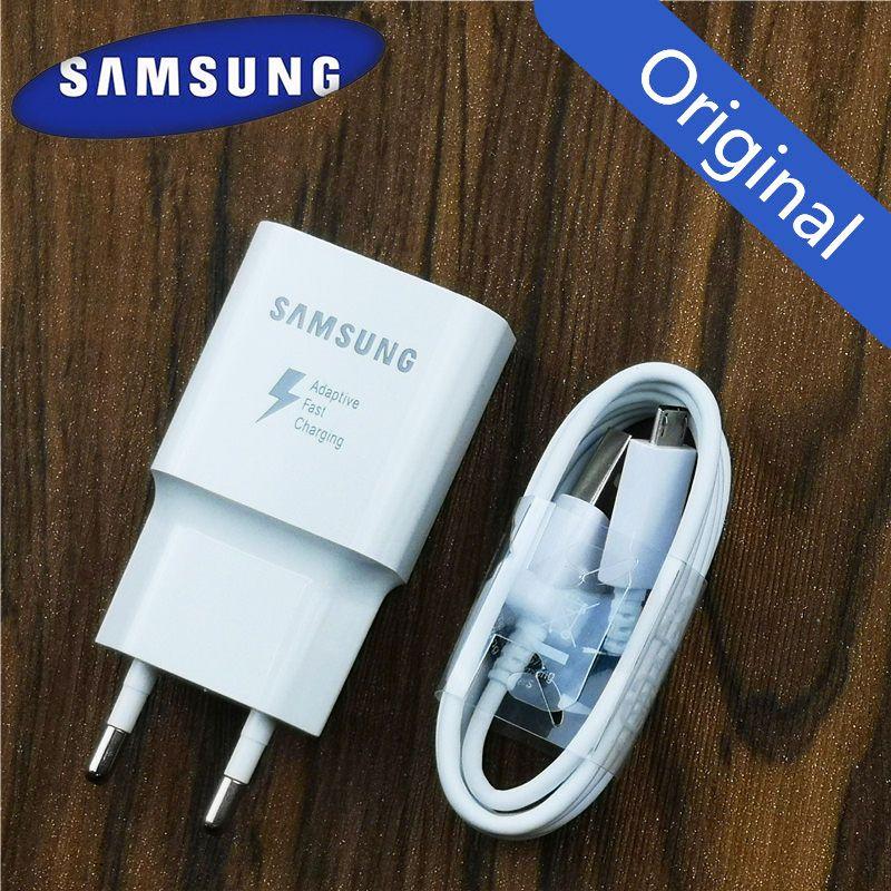 Chargeur Samsung adaptateur de Charge rapide adaptatif d'origine pour Galaxy a8 a6 a5 Note 4 5 J3 J5 2017 J7 S6 S7 edge S4 QC 3.0 adaptateur EU