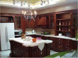 Модульная дерево кухонный шкаф (lh-sw038)