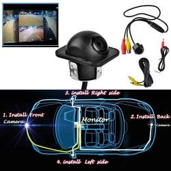 360 Full View Car Rear Mirror Side CCD Backup Parking Front Dual Use Hole Camera Left and right rearview Blind spot monitoring