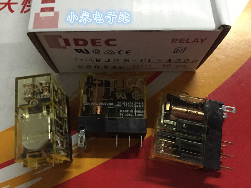 IDEC RJ2S-CL-A220 and spring relay 8A 250V 8 feet 2 groups G2R-2-SN 220VAC