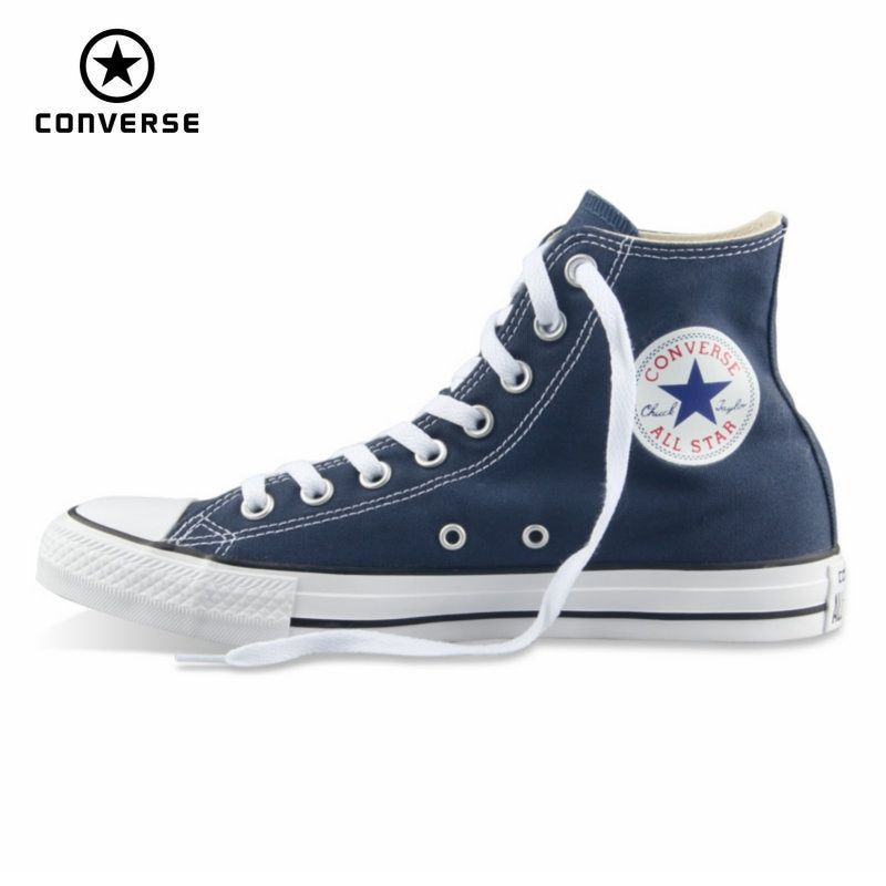 Original Converse all star shoes men women's sneakers canvas shoes all black high classic <font><b>Skateboarding</b></font> Shoes free shipping
