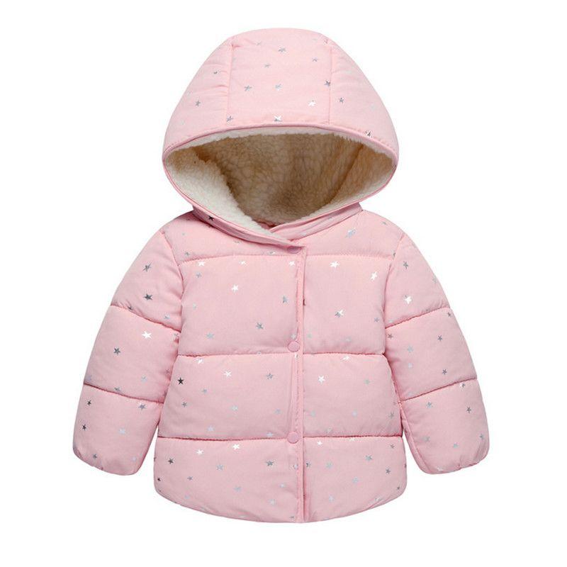 <font><b>Baby</b></font> Girls Jacket 2018 Autumn Winter Jacket For Girls Coat Kids Warm Hooded Outerwear Children Clothes Infant Girls Coat
