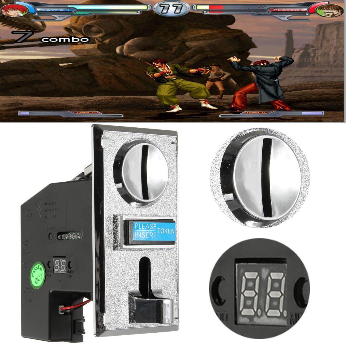Pc пластиковые электронные advanced спереди запись Процессор монетоприемник применимо для всех видов монеты и иностранных валют для игры