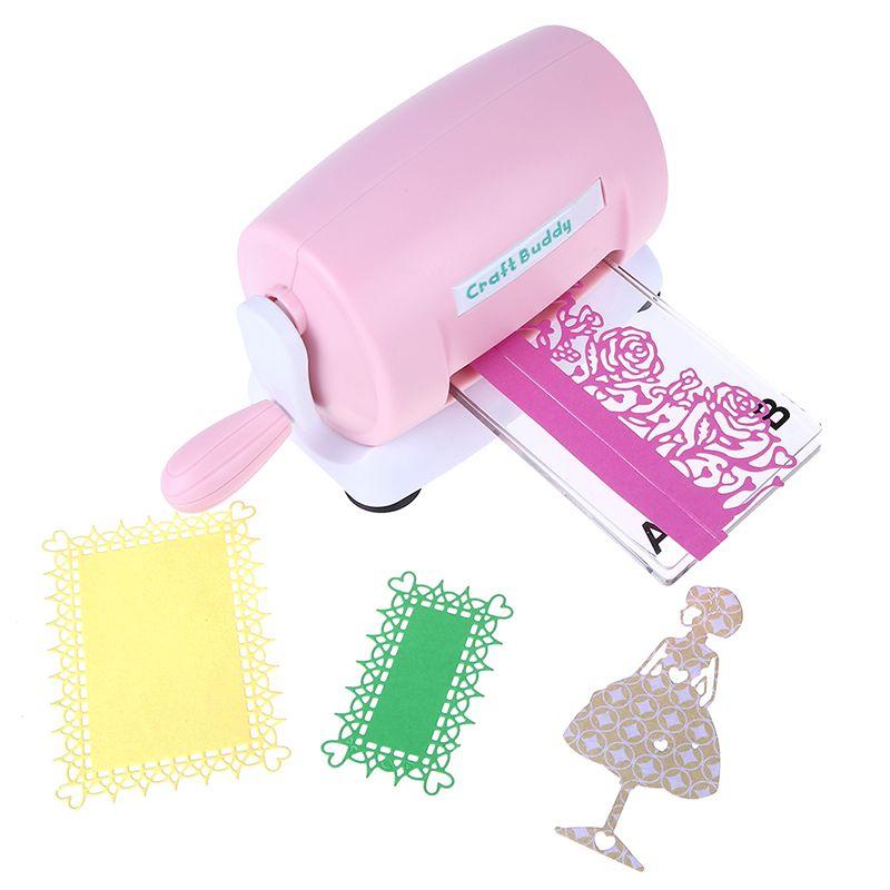 Dies Cutting Embossing Machine DIY Scrapbooking Dies Cutter Paper Card Die-Cut Machine Home Embossing Dies Tool Pink